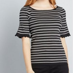 SALE | MODCLOTH SHORT SLEEVE STRIPED SWEATER